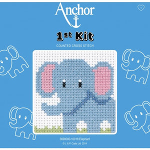 Anchor 1st Cross Stitch - Elephant