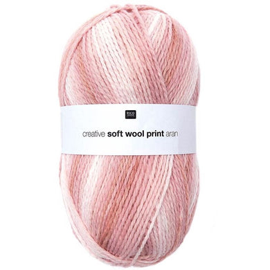 Rico Creative - Soft Wool Print Aran - 5 Colours