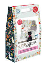 Load image into Gallery viewer, The Crafty Kit Company - 3 Felt Kitties Sewing Kit
