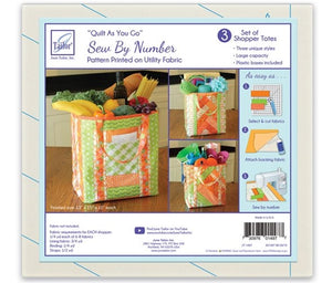 Quilt As you go by June Tailor - Set of 3 Shopper Totes
