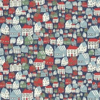 Liberty Christmas Collection - Yule Town - 100% Cotton