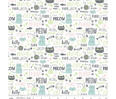Purrfect Day - Meow - Riley Blake - 100% Cotton