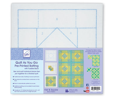Quilt As you go by June Tailor - Fair & Square Quilt