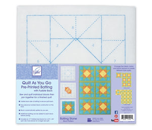 Quilt As you go by June Tailor - Rolling Stone Quilt