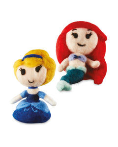 Needle Felting Kit - Disney Princess - Ariel/Cinderella - Makes 2