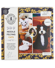 Load image into Gallery viewer, Needle Felting Kit - Cats - Makes 3