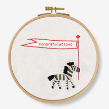 Load image into Gallery viewer, DMC Cross Stitch Kit - Congratulations! Zebra