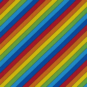 Rainbow Stripe - 100% Cotton