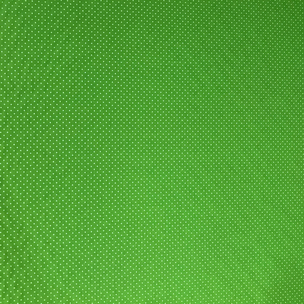 Pin Spot - 100% Cotton - Green