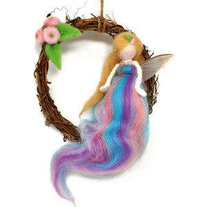 The Crafty Kit Company - Summer Fairy Wreath Needle Felting Kit