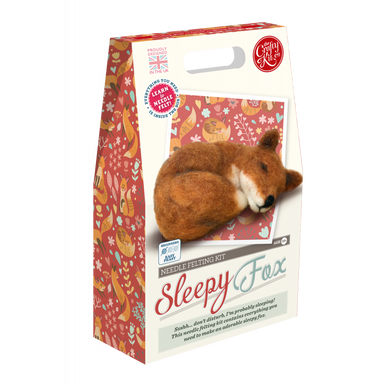 The Crafty Kit Company - Sleepy Fox Needle Felting Kit