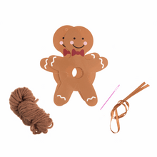 Load image into Gallery viewer, Christmas Gingerbread Man Pom Pom Decoration Kit