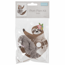 Load image into Gallery viewer, Sloth Pom Pom Decoration Kit