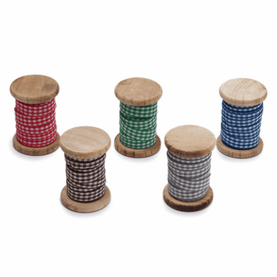 Gingham Ribbon Spool