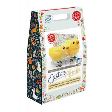 The Crafty Kit Company - Easter Chicks Needle Felting Kit
