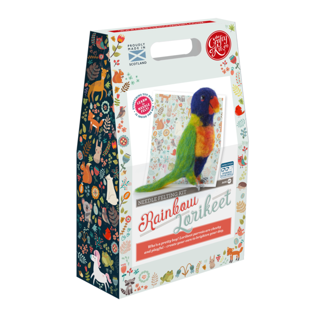 The Crafty Kit Company - Rainbow Lorikeet Needle Felting Kit