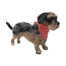 Load image into Gallery viewer, The Crafty Kit Company - Miniature Wirehaired Daschund Needle Felting Kit