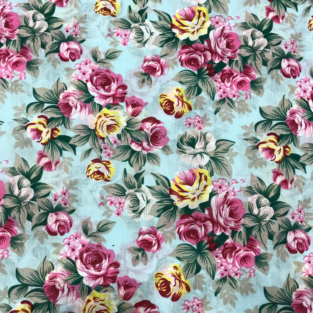 Summer Floral Garden - 100% Cotton