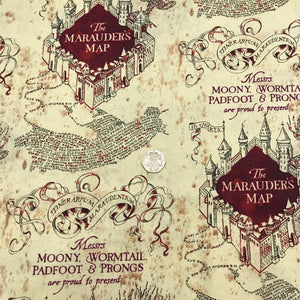 Harry Potter - Marauders Map - 100% Cotton