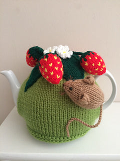 Pesky Mouse in the strawberry patch - Knitted Tea Cosy Kit