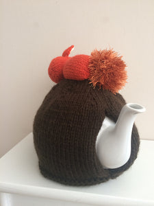 Sleeping Fox in the flower meadow - Knitted Tea Cosy Kit