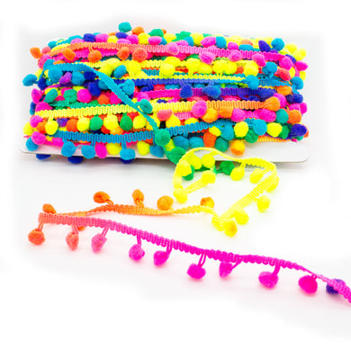 1cm Multi-coloured Pom Pom Trim