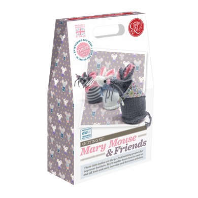 The Crafty Kit Company - Mary Mouse & Friends Knitting Kit