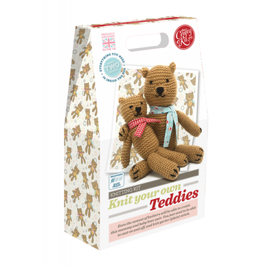 The Crafty Kit Company - Knit Your Own Teddies Kit