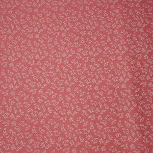 Little Flowers on Coral - 100% Cotton