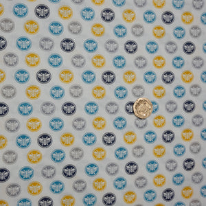 Sewing Bumble Bee by Stuart Hillard - Buttons - 100% Cotton