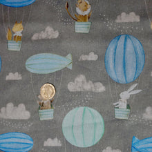 Load image into Gallery viewer, Adventures in the Sky - Hot Air Balloon - 3 Wishes - 100% Cotton