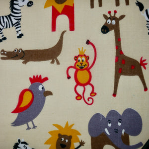Zoo Animals - 100% Cotton