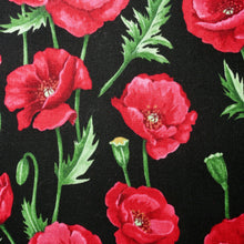 Load image into Gallery viewer, Poppy Stems - 100% Cotton