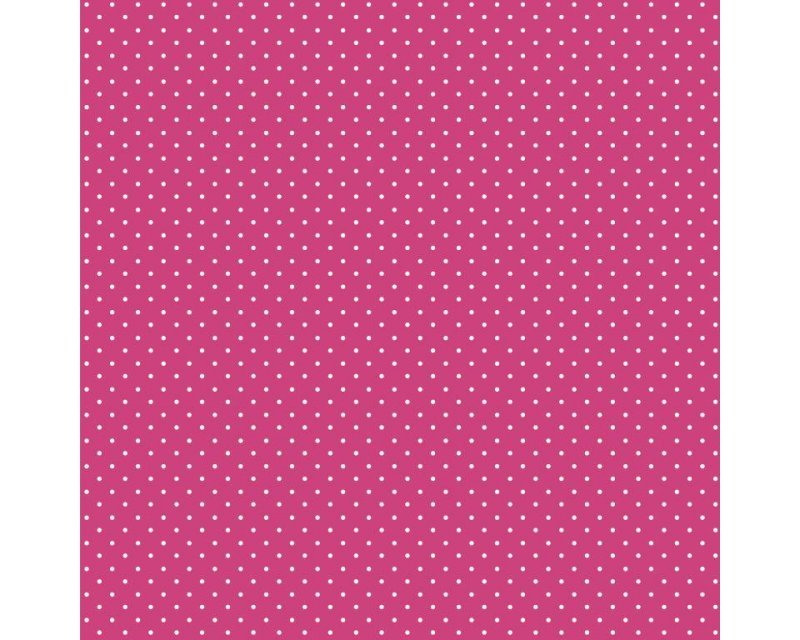 Pin Spot - 100% Cotton - Cerise