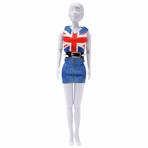 Dress Your Doll - Couture Outfit Kit - Combi Red & Blue