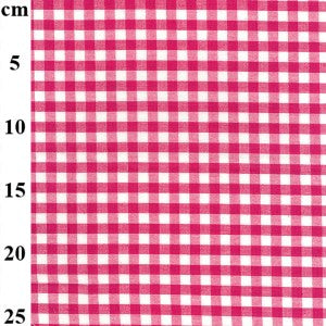 Gingham - 100% Cotton - Fuschia