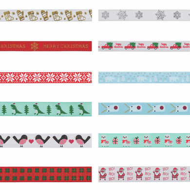 Christmas Ribbon - By The Metre