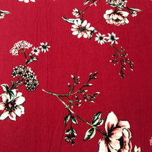 Load image into Gallery viewer, Cotton Jersey Fabric - Red Flowers
