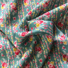 Load image into Gallery viewer, Viscose - Turquoise Floral