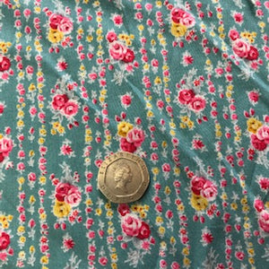 Viscose - Turquoise Floral