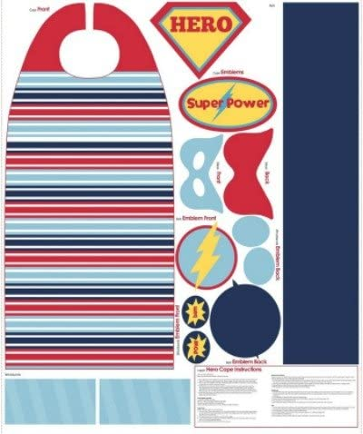 Super Hero Cape - by Riley Blake - 100% Cotton
