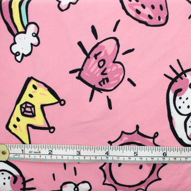 Polyester Jersey Fabric - Pink Funky