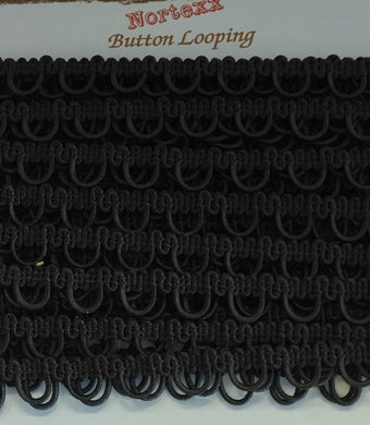 Button Back Looping - Black
