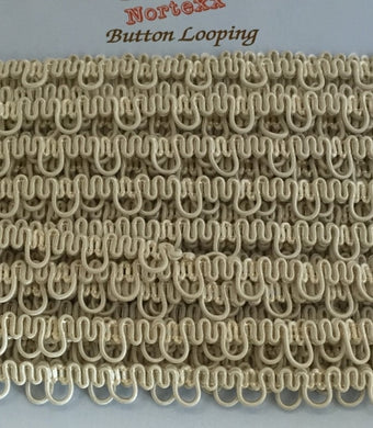 Button Back Looping - Cream