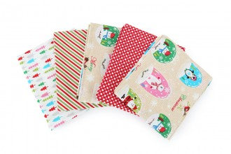 Christmas Fat Quarter Pack - Snow Globes