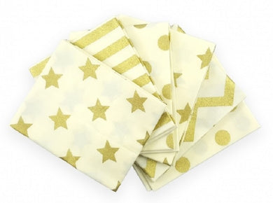 Fat Quarter Pack - Gold Metallic