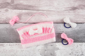 My First Knitting Kit - Clutch Bag and Hairbands