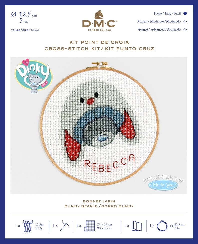 DMC Me To You Cross Stitch Kit - Bunny Beanie