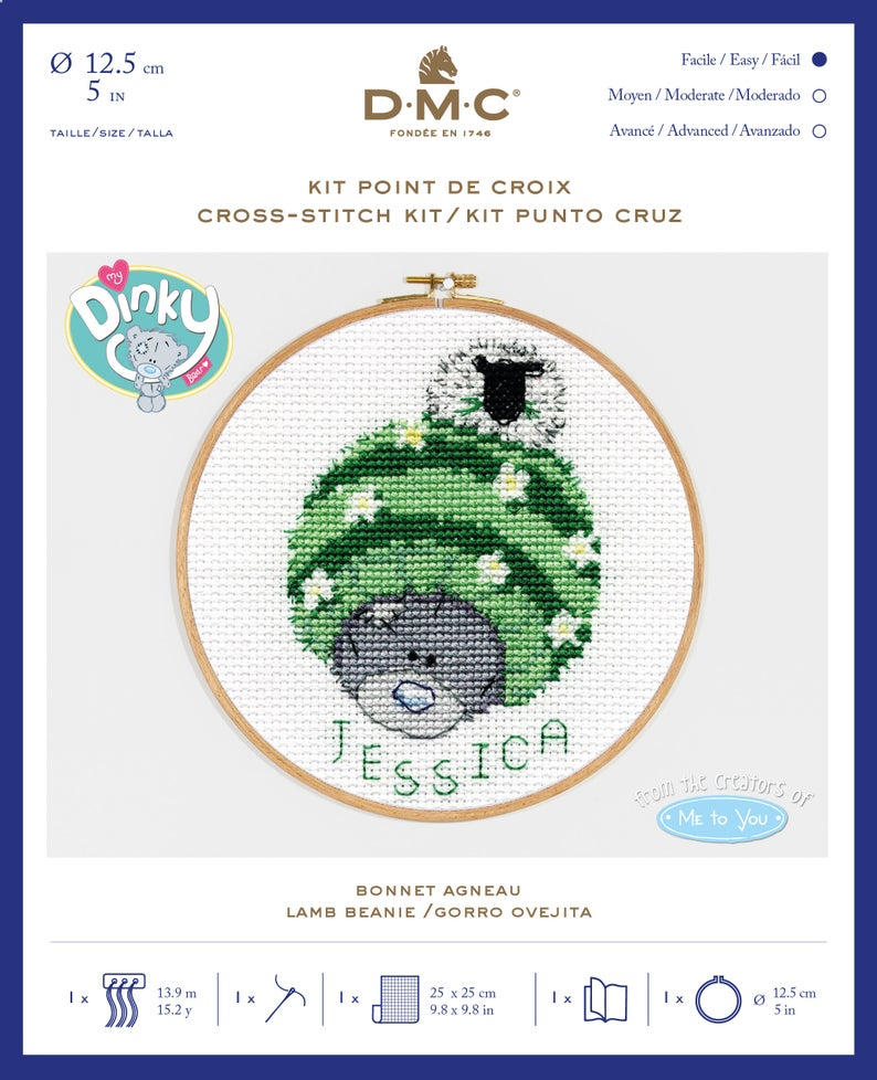 DMC Me To You Cross Stitch Kit - Lamb Beanie