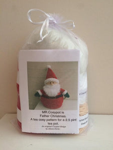 Mr Cosypot Santa - Knitted Tea Cosy Kit